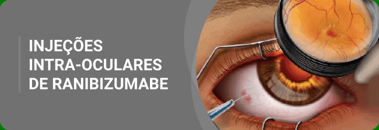 Injeções intra-oculares de ranibizumabe